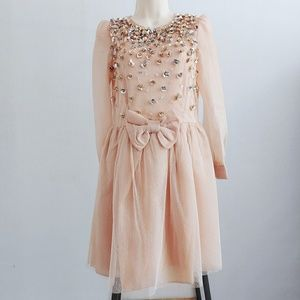 RED Valentino 3D Flower Bow Cocktail Party Dress